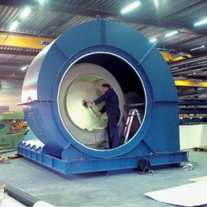 Centrifugaal ventilator met coullissendemper zuigzijdig